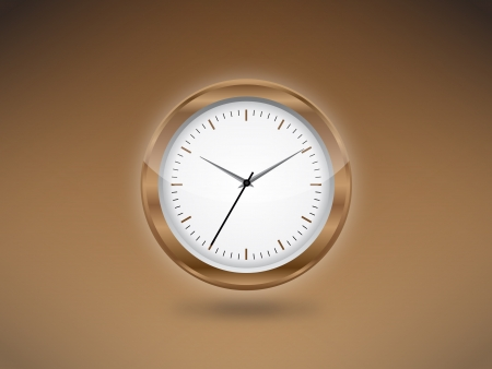 brown clock background jpeg image vector illustration. This image will download as a jpeg or .eps file. You will need a vector editor to use this file. Stock Vector - 18779816