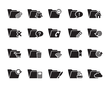 File and Folder Icons vector illustrator, available in jpeg and eps formats, to modify this file editing software such as Adobe Illustrator, Freehand, or CorelDRAW is required Illustration
