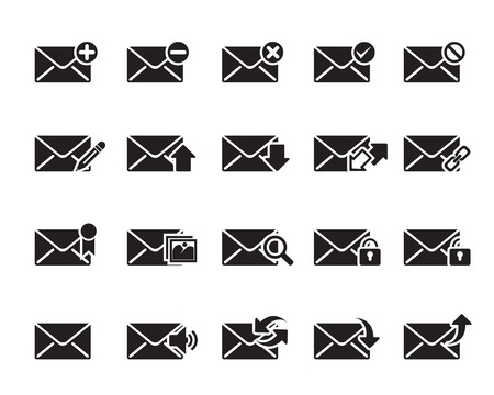 Email Icons vector illustrator, available in jpeg and eps formats, to modify this file editing software such as Adobe Illustrator, Freehand, or CorelDRAW is required
