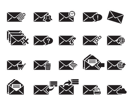 coreldraw: Email Icons vector illustrator, available in jpeg and eps formats, to modify this file editing software such as Adobe Illustrator, Freehand, or CorelDRAW is required