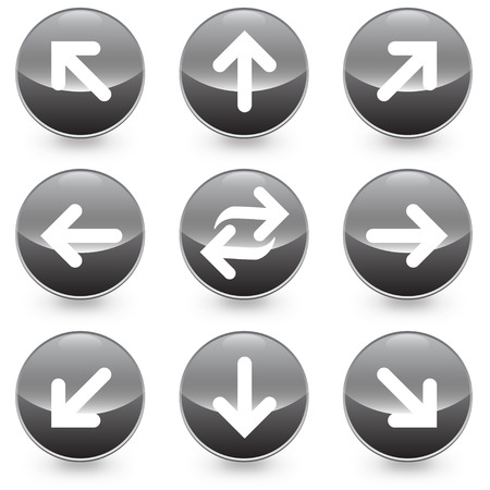 Arrows vector illustrator web icons, available in jpeg and eps formats