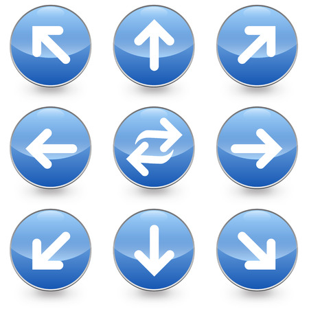 Blue web arrow icons