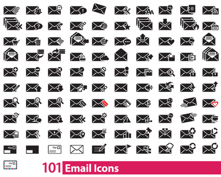 image size: 101 Email black Icons vector can be scaled to any size without loss of resolution. This image will download as a .eps file. You will need a vector editor to use this file (such as Adobe Illustrator). Illustration