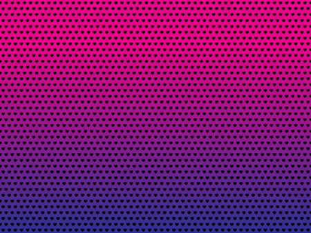 Vector Love hearts pattern gradient background Illustration