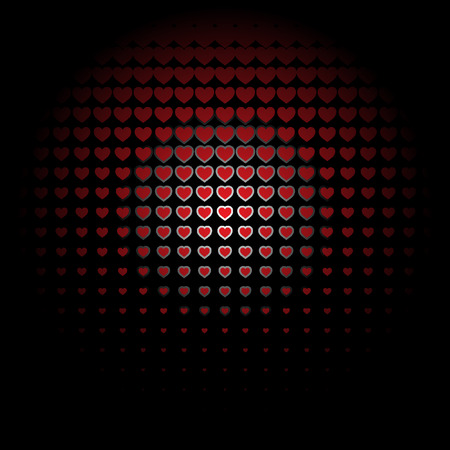 love picture: Beautiful seamless vector pattern with embossed red hearts. Can be used for wallpaper, pattern fills, web page background, surface textures. Illustration