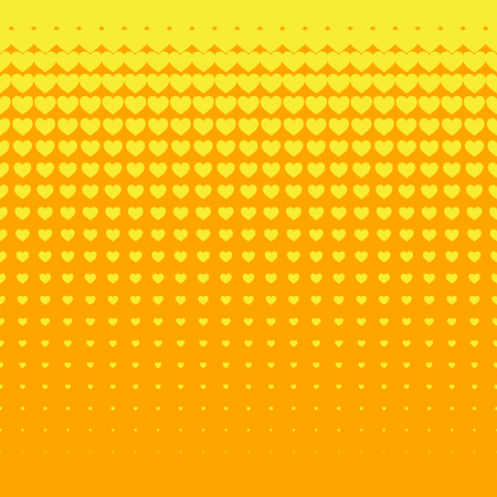 Beautiful seamless vector pattern with yellow hearts. Can be used for wallpaper, pattern fills, web page background, surface textures.