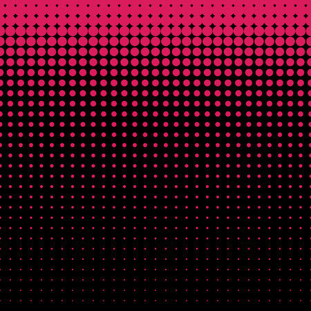 Beautiful seamless vector bright maroon dotted pattern on black background. Can be used for wallpaper, pattern fills, web page background, surface textures.