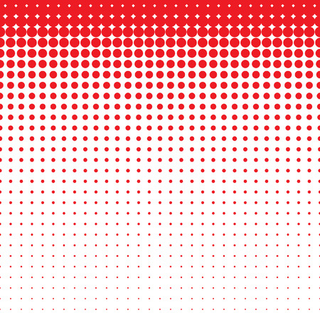 Beautiful seamless vector red dotted pattern on white background. Can be used for wallpaper, pattern fills, web page background, surface textures.