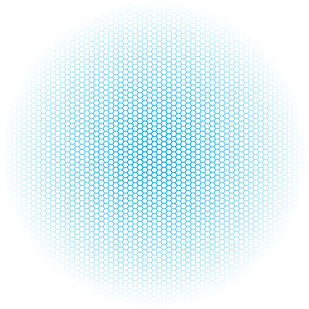 Beautiful Seamless vector hexagon blue glow pattern black background. Can be used for wallpaper pattern fills web page background surface textures.