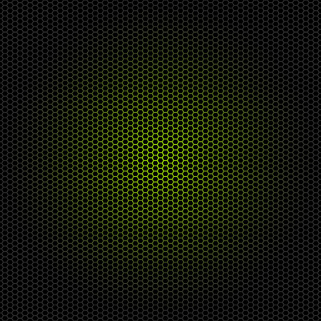 Beautiful Seamless vector hexagon green glow pattern black background. Can be used for wallpaper pattern fills web page background surface textures.