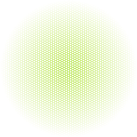 Beautiful Seamless vector hexagon green glow pattern white background. Can be used for wallpaper pattern fills web page background surface textures. Illustration