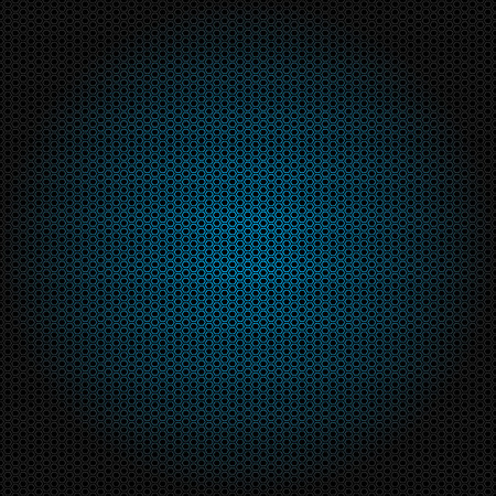 Beautiful Seamless vector blue hexagon pattern on black background. Can be used for wallpaper pattern fills web page background surface textures.