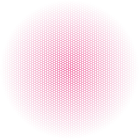 Beautiful Seamless vector neon pink hexagon pattern on white background. Can be used for wallpaper pattern fills web page background surface textures. Illustration