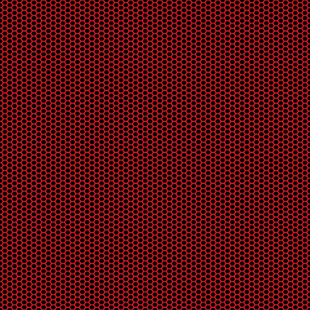 Beautiful Seamless vector red hexagon pattern on black background. Can be used for wallpaper pattern fills web page background surface textures.
