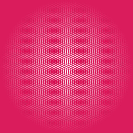Beautiful Seamless vector white hexagon pattern on pink background. Can be used for wallpaper pattern fills web page background surface textures.