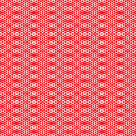 Beautiful Seamless vector hexagon white pattern on red background. Can be used for wallpaper pattern fills web page background surface textures. Illustration