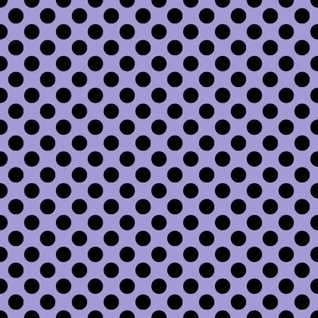 Beautiful seamless vector black dots pattern on purple background. Can be scaled at any size and used for wallpaper pattern files web page background surface textures.