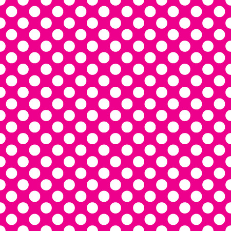 Beautiful seamless vector baby pink dots pattern on white background. Can be scaled at any size and used for wallpaper pattern files web page background surface textures.  Illustration