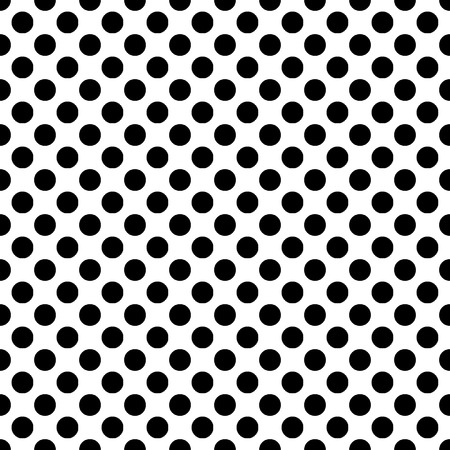 Seamless vector black polka dots pattern on white background. Can be scaled at any size and used for wallpaper pattern files web page background surface textures. Available in jpeg and eps formats to modify this file editing software such as Adobe Illustr Illustration