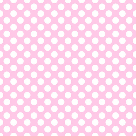 scaled: Seamless vector white polka dots pattern on pink background. Can be scaled at any size and used for wallpaper pattern files web page background surface textures.  Illustration