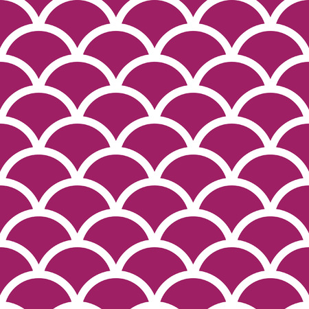 any size: Traditional Seigaiha Japanese seamless wave pattern. Scaled at any size and used for wallpaper pattern files web page blog surface textures graphic  printing.  Illustration