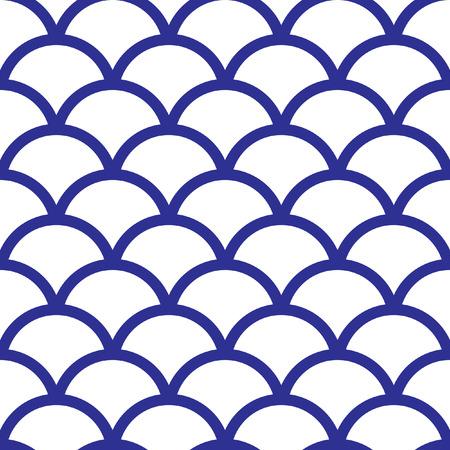 Motif de vague transparente Seigaiha traditionnelle japonaise. Scaled à toute taille et utilisé pour les fichiers de motif de papier peint page web textures de surface de blog d'impression graphique. Banque d'images - 40969563
