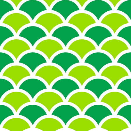Traditional Seigaiha Japanese seamless wave pattern. Scaled at any size and used for wallpaper pattern files web page blog surface textures graphic  printing.  Illustration