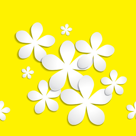 Abstract 3d paper flower vector pattern background. Available in highresolution in several sizes to fit the needs of your project and can be used for wallpaper pattern web blog surface textures graphic  printing.