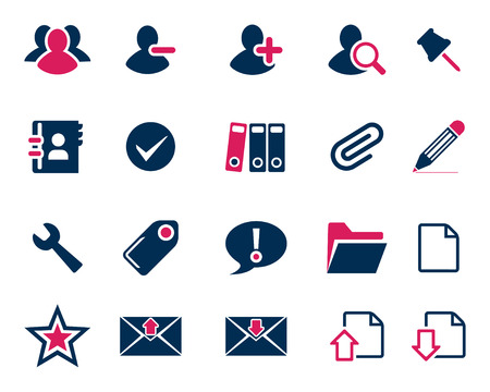 office icons: Stock Vector pink blue web and office icons in high resolution. Scaled at any size and used for SEO, web page, blog, mobile apps, documents, graphic  printing.
