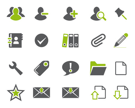 Stock Vector green grey web and office icons in high resolution. Scaled at any size and used for SEO, web page, blog, mobile apps, documents, graphic  printing.