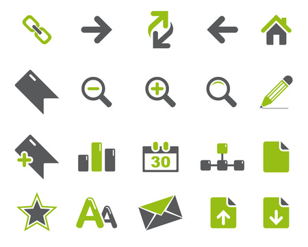high size: Stock Vector green grey web and office icons in high resolution. Scaled at any size and used for SEO, web page, blog, mobile apps, documents, graphic  printing.