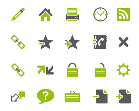 any size: Stock Vector green grey web and office icons in high resolution. Scaled at any size and used for SEO, web page, blog, mobile apps, documents, graphic  printing.