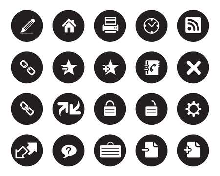 any size: Stock Vector black web and office icons in high resolution. Scaled at any size and used for SEO, web page, blog, mobile apps, documents, graphic  printing.