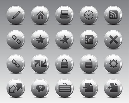 broken link: Bolas grises Stock Vector iconos de la web y de la oficina 3d con la sombra en la alta resoluci�n. Escalado en cualquier tama�o y utilizado para el SEO, p�gina web, blog, aplicaciones m�viles, documentos, impresi�n gr�fica.