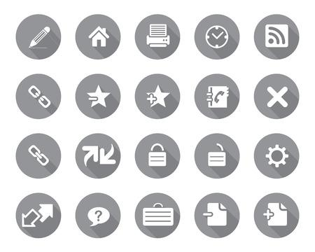 broken link: Stock Vector gris redondeado web y los iconos de oficina con la sombra en la alta resoluci�n. Escalado en cualquier tama�o y utilizado para el SEO, p�gina web, blog, aplicaciones m�viles, documentos, impresi�n gr�fica.