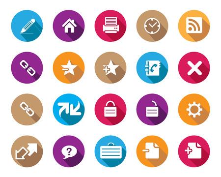 broken link: Stock Vector coloridos iconos de la web y de oficina redondeadas con sombra en alta resoluci�n. Escalado en cualquier tama�o y utilizado para el SEO, p�gina web, blog, aplicaciones m�viles, documentos, impresi�n gr�fica.