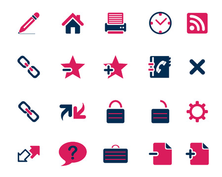 icone: Stock Vector pink blue web and office icons in high resolution. Scaled at any size and used for SEO, web page, blog, mobile apps, documents, graphic  printing.