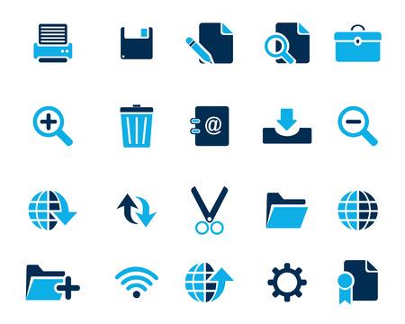 broken link: Stock Vector iconos de la web y de oficina de color azul en alta resoluci�n. Escalado en cualquier tama�o y utilizado para el SEO, p�gina web, blog, aplicaciones m�viles, documentos, impresi�n gr�fica.