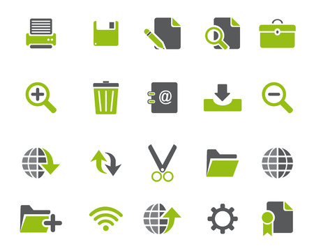broken link: Stock Vector iconos de la web y de oficinas verdes en alta resoluci�n. Escalado en cualquier tama�o y utilizado para el SEO, p�gina web, blog, aplicaciones m�viles, documentos, impresi�n gr�fica.
