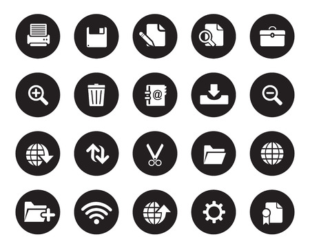 icone: Stock Vector black web and office icons in high resolution. Scaled at any size and used for SEO, web page, blog, mobile apps, documents, graphic  printing.