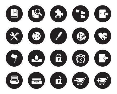 high size: Stock Vector black web and office icons in high resolution. Scaled at any size and used for SEO, web page, blog, mobile apps, documents, graphic  printing.