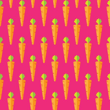 Carrot stock vector pattern on pink background for wallpaper, pattern, web, blog, surface, textures, graphic & printing
