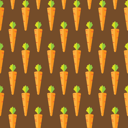 Carrot stock vector seamless pattern on brown background for wallpaper, pattern, web, blog, surface, textures, graphic & printing Illustration