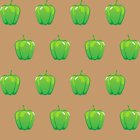 green bell pepper stock vector pattern on brown background for wallpaper, pattern, web, blog, surface, textures, graphic & printing