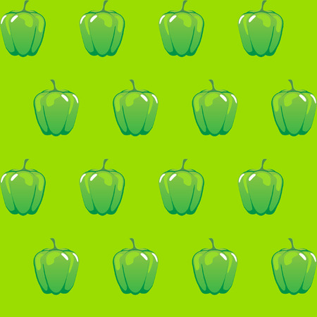 green bell pepper stock vector pattern on light green background for wallpaper, pattern, web, blog, surface, textures, graphic & printing