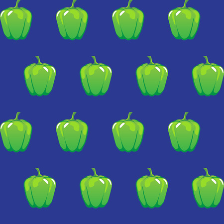 green bell pepper stock vector pattern on blue background for wallpaper, pattern, web, blog, surface, textures, graphic & printing.