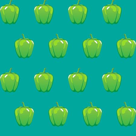 green bell pepper stock vector pattern on green background for wallpaper, pattern, web, blog, surface, textures, graphic & printing. Illustration