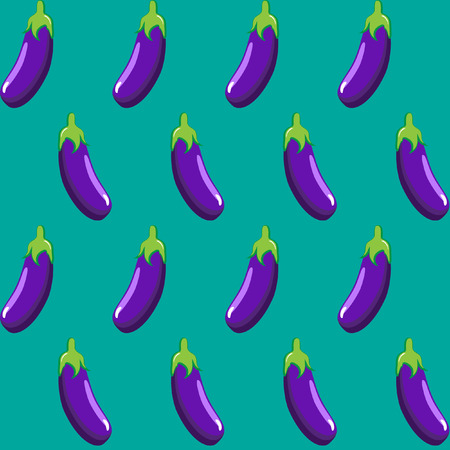 eggplant stock vector pattern on green background wallpaper, pattern, web, blog, surface, textures, graphic & printing Illustration