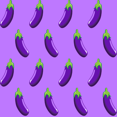 eggplant stock vector pattern  on purple background wallpaper, pattern, web, blog, surface, textures, graphic & printing