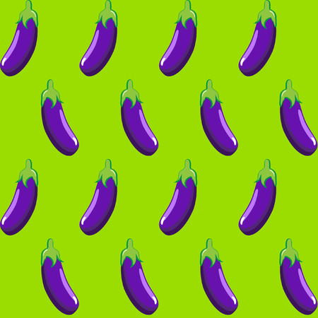 eggplant stock vector pattern on neon green background wallpaper, pattern, web, blog, surface, textures, graphic & printing